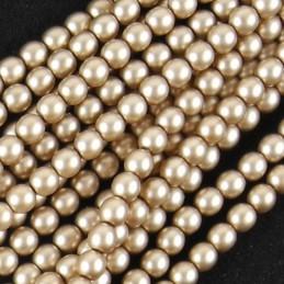 Tsekkiläinen mattapintainen helmiäislasihelmi 4 mm, ruskeanharmaa satiini
