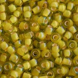 Toho pyöreä siemenhelmi 11/0, sisältävärjätty jonquil sisävärinä aprikoosi