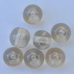 Tsekkiläinen pyöreä lasihelmi 6 mm, kirkas kiiltävä samppanja