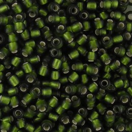 Toho pyöreä siemenhelmi 11/0, hopeasisus huurrettu oliivi