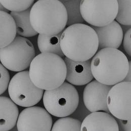 Preciosa pyöreä lakattu puuhelmi 12 mm, valkoinen