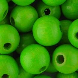 Preciosa pyöreä lakattu puuhelmi 8 mm, omenanvihreä