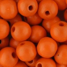 Preciosa pyöreä lakattu puuhelmi 8 mm, oranssi