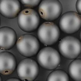 Preciosa pyöreä mattapintainen helmiäislasihelmi 6 mm, harmaa