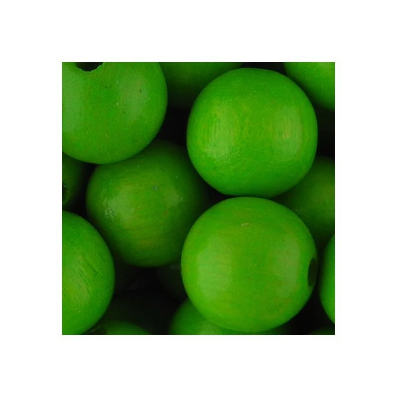 Preciosa pyöreä lakattu puuhelmi 12 mm, omenanvihreä