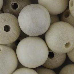 Preciosa pyöreä lakattu puuhelmi 12 mm, värjäämätön