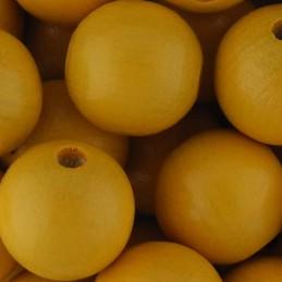 Preciosa pyöreä lakattu puuhelmi 12 mm, lämmin keltainen