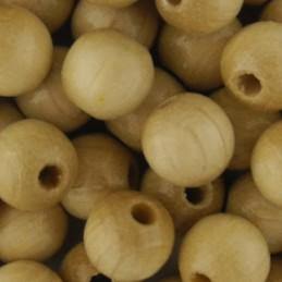 Preciosa pyöreä lakattu puuhelmi 8 mm, puunvärinen
