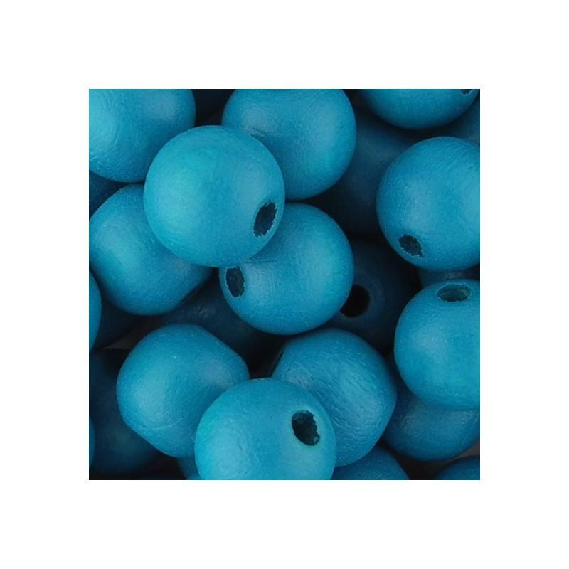 Preciosa pyöreä lakattu puuhelmi 8 mm, turkoosi