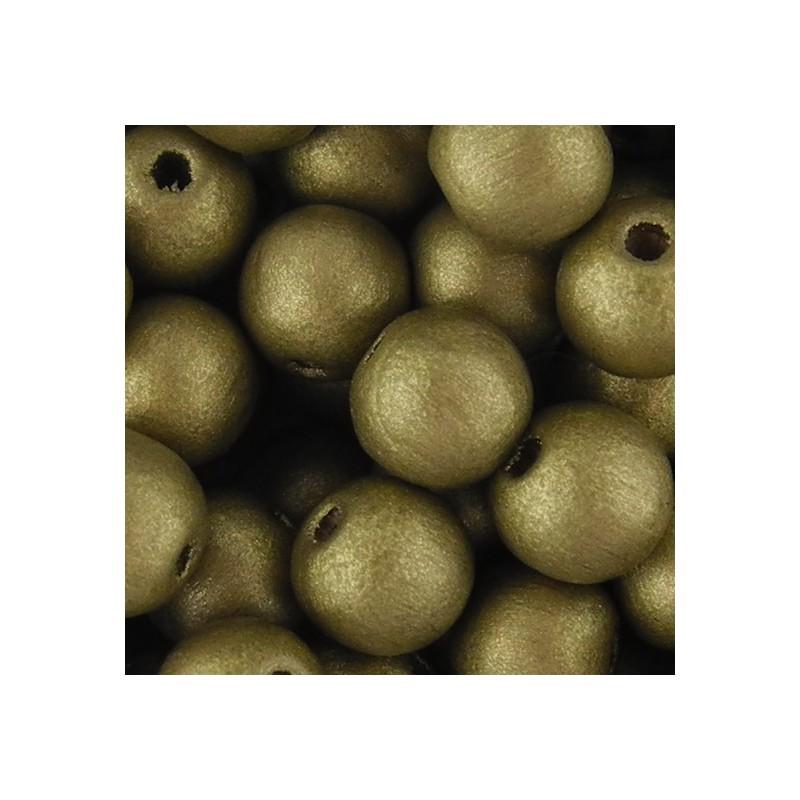 Preciosa pyöreä lakattu puuhelmi 8 mm, kulta