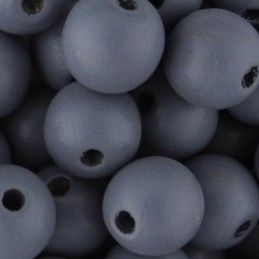 Preciosa pyöreä lakattu puuhelmi 10 mm, harmaa