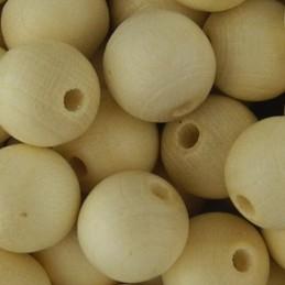Preciosa pyöreä kiillotettu puuhelmi 10 mm, vaalea puunvärinen