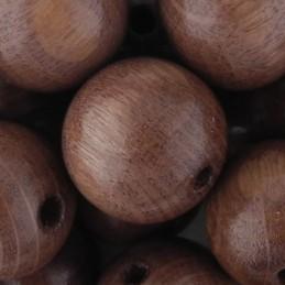 Preciosa pyöreä lakattu puuhelmi 14 mm, vaaleanruskea