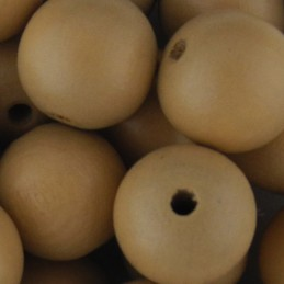 Preciosa pyöreä lakattu puuhelmi 14 mm, beige