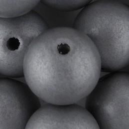 Preciosa pyöreä lakattu puuhelmi 16 mm, hopea