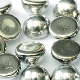 Tsekkiläinen dome helmi 12 x 7 mm, hopea