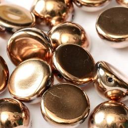 Tsekkiläinen dome helmi 12 x 7 mm, kultainen kapri
