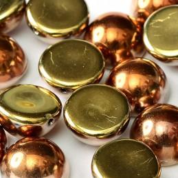 Tsekkiläinen dome helmi 12 x 7 mm, kalifornian kulta
