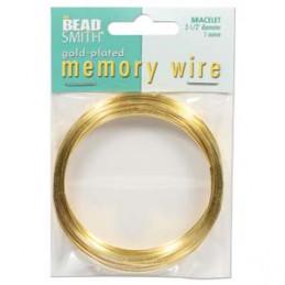 Memory wire, rannekorukoko 64 mm, kullattu (n. 70 kieppiä)