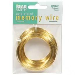 Memory wire, rannekorukoko 50 mm, kullattu (n. 70 kieppiä)