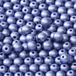 Tsekkiläinen pyöreä lasihelmi 6 mm, metallinen tansaniitti