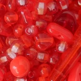 Tsekkiläinen lasihelmisekoitus, punainen