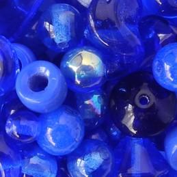 Tsekkiläinen lasihelmisekoitus, tummansininen