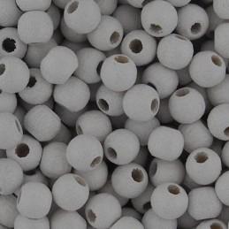 Preciosa pyöreä lakattu puuhelmi 4 mm, valkoinen