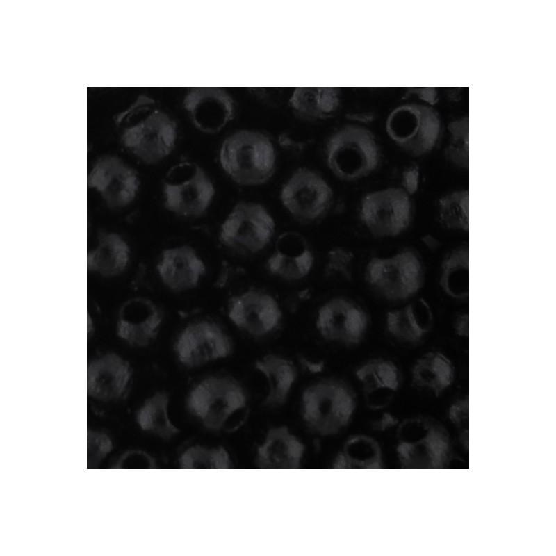Preciosa pyöreä lakattu puuhelmi 4 mm, musta