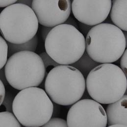 Preciosa pyöreä lakattu puuhelmi 8 mm, valkoinen