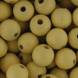 Preciosa pyöreä lakattu puuhelmi 8 mm, vaalea oljenkeltainen