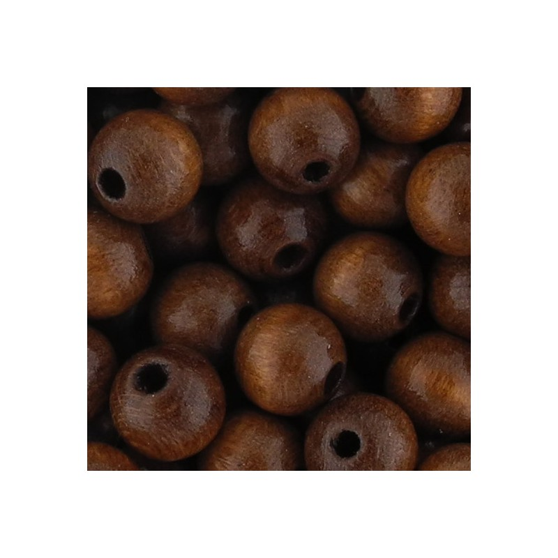 Preciosa pyöreä lakattu puuhelmi 8 mm, ruskea