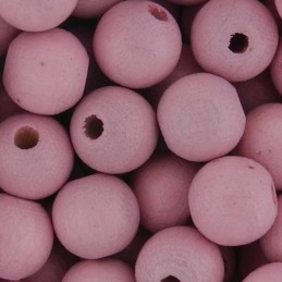 Preciosa pyöreä lakattu puuhelmi 8 mm, vaaleanpunainen