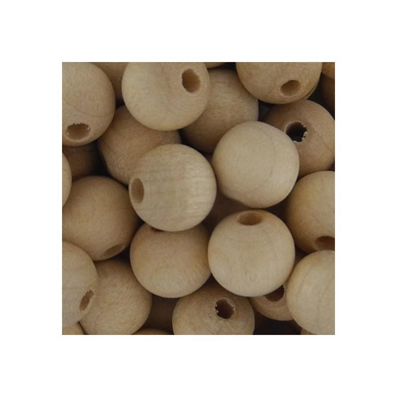 Preciosa pyöreä puuhelmi 8 mm, käsittelemätön
