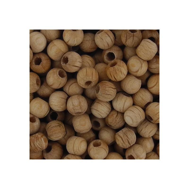 Preciosa pyöreä puuhelmi 4 mm, käsittelemätön