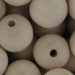 Preciosa pyöreä puuhelmi 12 mm, käsittelemätön