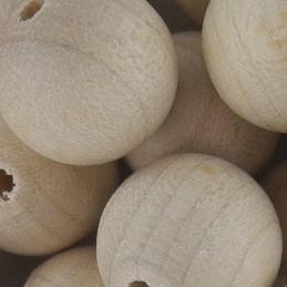 Preciosa pyöreä puuhelmi 14 mm, käsittelemätön