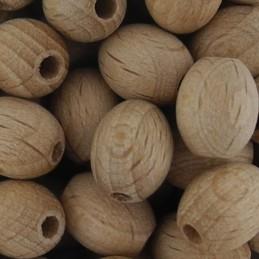 Preciosa soikea puuhelmi 10 x 8 mm, käsittelemätön