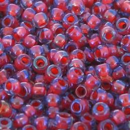 Toho pyöreä siemenhelmi 11/0, sisältä värjätty vaalea safiiri sisävärinä hyasintti