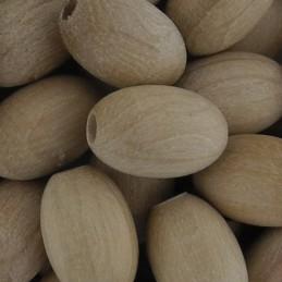 Preciosa soikea puuhelmi 12 x 8 mm, käsittelemätön