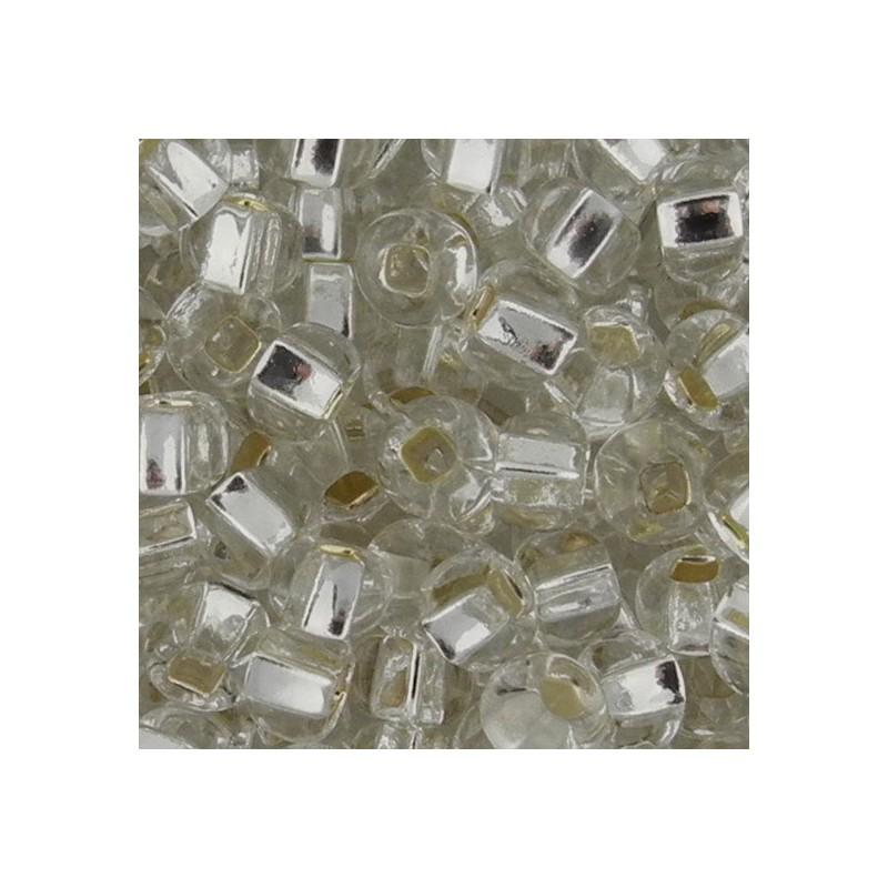 Preciosa pyöreä siemenhelmi 6/0, hopeasisus kirkas