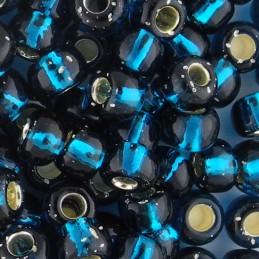 Toho pyöreä siemenhelmi 3/0, hopeasisus sinivihreä