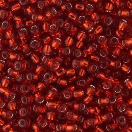 Toho pyöreä siemenhelmi 11/0, hopeasisus rubiininpunainen