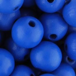 Preciosa pyöreä lakattu puuhelmi 10 mm, sininen