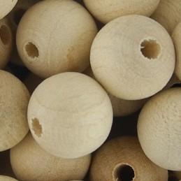 Preciosa pyöreä puuhelmi 10 mm, käsittelemätön