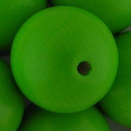 Preciosa pyöreä lakattu puuhelmi 25 mm, omenanvihreä