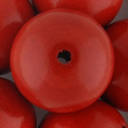 Preciosa pyöreä lakattu puuhelmi 25 mm, punainen