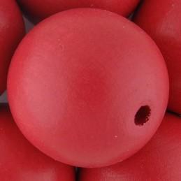 Preciosa pyöreä lakattu puuhelmi 25 mm, pinkki