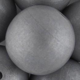 Preciosa pyöreä lakattu puuhelmi 25 mm, hopea