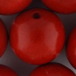 Preciosa pyöreä lakattu puuhelmi 20 mm, punainen